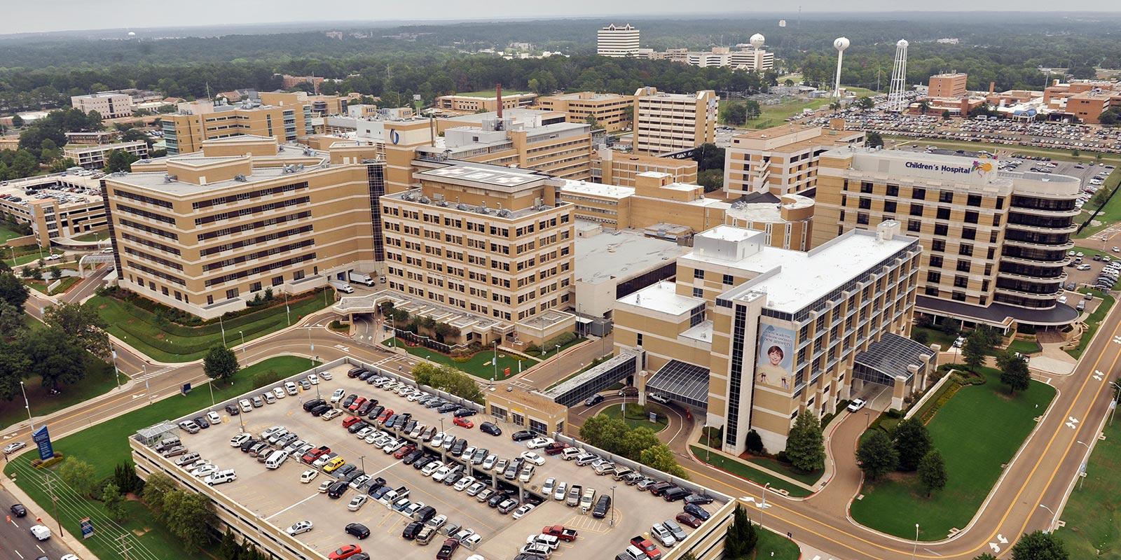 UMMC campus aerial photo